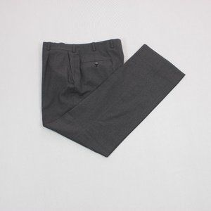 Oxxford Clothes Light Windsor Flannel Wool Pants